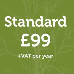 Standard Membership: £99 + vat per year