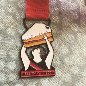 Hellingly 10K medal