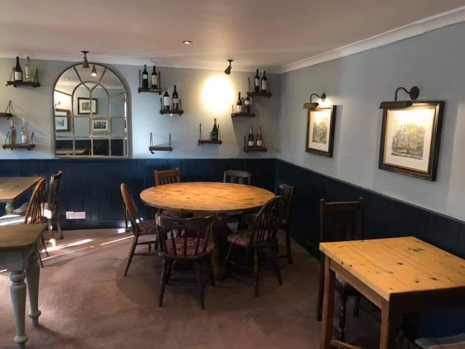 interior of the wheel pub