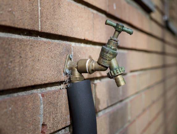 A outside tap