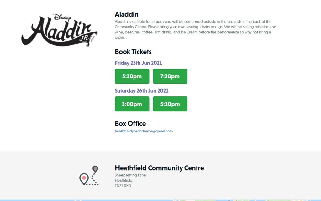 information about Aladdin