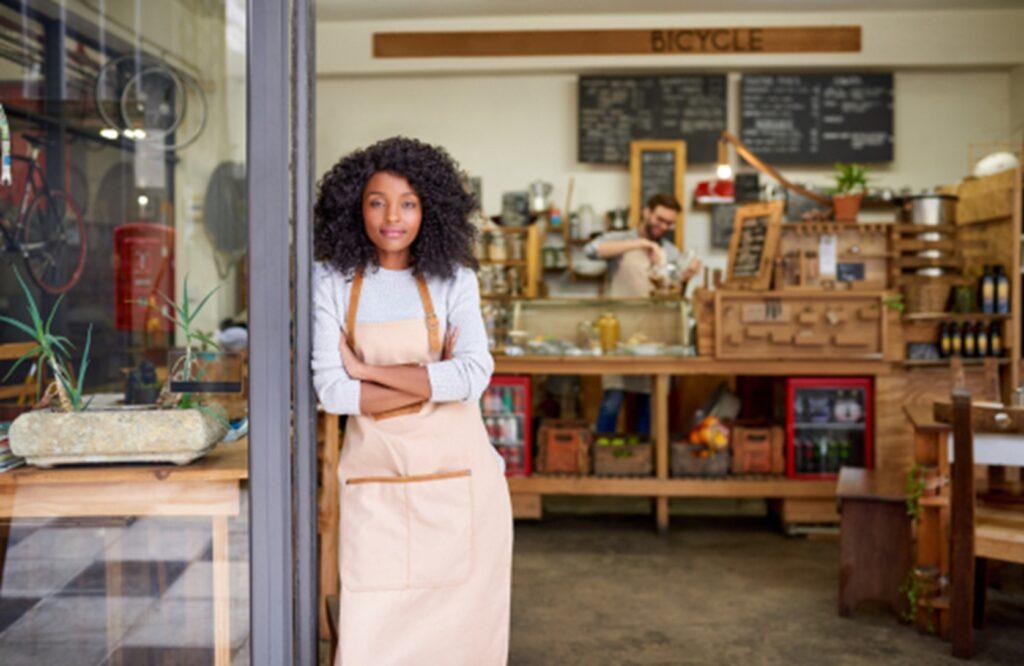 Shopkeeper in her shop